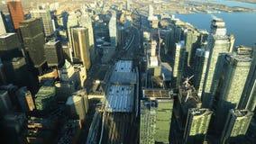 Timelapse flyg- sikt av Toronto, Ontario 4K stock video