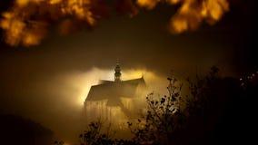 Timelapse foggy church stock video