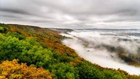 Timelapse foggy valley II. stock video