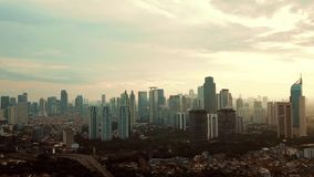 Timelapse footage of Jakarta city view stock video footage