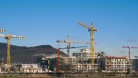 Timelapse footage of a large construction site stock video footage