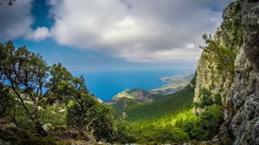 Timelapse footage of the northern part of Mallorca island, Spain. stock video footage