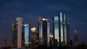 Timelapse Frankfurt financial district stock video footage