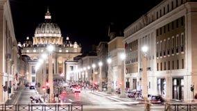 Timelapse główna fasada bazylika San Pietro, Watykan rome zbiory wideo