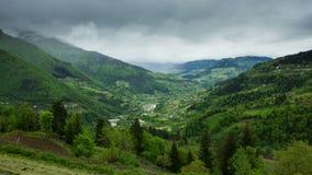 Timelapse of Georgian mountains landscape stock video footage