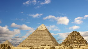 Timelapse Of The Great Pyramids In Giza Valley, Cairo, Egypt stock video footage