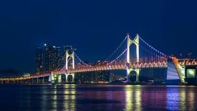 Timelapse of Gwangan bridge in Busan Korea. Timelapse of Gwangan bridge in Busan Korea stock video