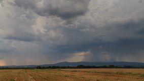 Timelapse - Hailstorm passing over the Taunus low mountain range stock footage