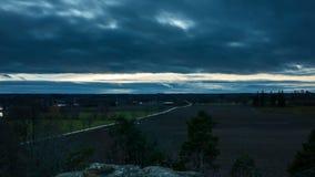 Timelapse hermoso de la naturaleza y del paisaje en Suecia almacen de metraje de vídeo