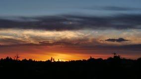 Timelapse hermoso de la puesta del sol almacen de video