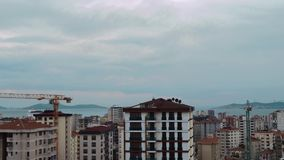 Timelapse of high angle view city scenery at sunset in Kadikoy, Istanbul, Turkey. Timelapse of high angle view cityscape at sunset in Kadikoy, Istanbul, Turkey stock footage