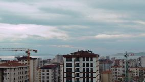 Timelapse of high angle view city scenery at sunset in Kadikoy, Istanbul, Turkey. Timelapse of high angle view cityscape at sunset in Kadikoy, Istanbul, Turkey stock video
