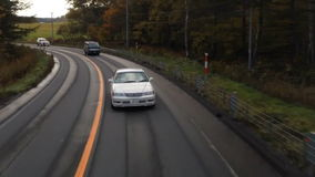 Timelapse highway driving curve stock video