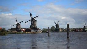 Timelapse histórico del molino de viento almacen de metraje de vídeo