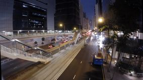 Timelapse of Hong Kong's busy streets at night stock footage