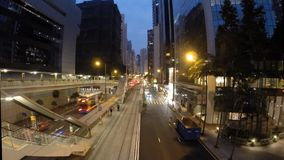 Timelapse of Hong Kong's busy streets at night stock video footage