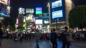 Timelapse hundratals folk på gatan av den asiatiska staden lager videofilmer