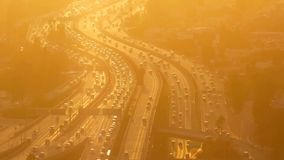 Timelapse, Hundreds of cars are racing along the City Autobahn stock video