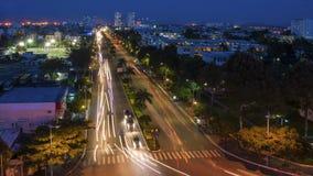 Timelapse I för Vung Tau natttrafik - Vietnam stock video
