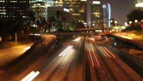 Timelapse inclinable de la autopista sin peaje del la del cambio metrajes