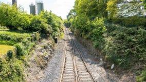 Timelapse of Irish train paaing by. Railway. 4k stock video