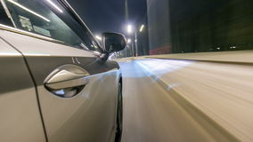 Timelapse jeżdżenie przy wysoką prędkością przez ulicy timelapse drivelapse zbiory