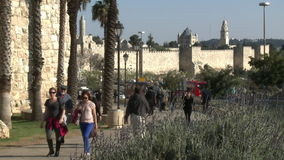 Timelapse Jerusalem old city stock video footage