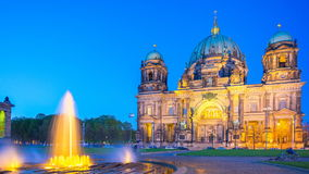 Timelapse 4K, Berlin Cathedral or Berliner Dom at night in Berlin, Germany, video time lapse stock video footage
