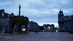Timelapse 4K of The Castlegate stands at the east end of Union Street. ABERDEEN, SCOTLAND, SEPTEMBER 04, 2016: Timelapse 4K of The Castlegate stands at the east stock video footage