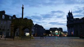 Timelapse 4K of The Castlegate stands at the east end of Union Street. ABERDEEN, SCOTLAND, SEPTEMBER 04, 2016: Timelapse 4K of The Castlegate stands at the east stock footage