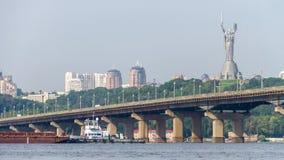 Timelapse 4k de Kiev da ponte de Paton video estoque