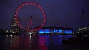 Timelapse 4k del ojo de Londres almacen de video