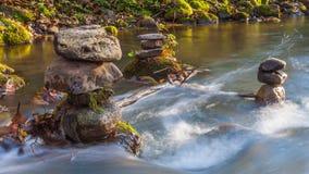 timelapse 4K del pequeño flujo del río en Lituania metrajes