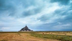 Timelapse 4K do Le Mont Saint-Michel video estoque