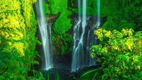 timelapse 4K Paraíso escondido cachoeira do Virgin de Sekumpul em Bali 15 de julho de 2015, Bali, Indonésia filme