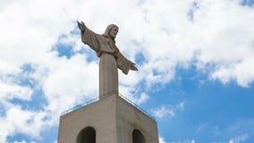 timelapse 4K von Jesus Christ-Monument Cristo-rei in Lissabon, Portugal stock video footage