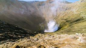 timelapse 4K Vulcano Bromo della caldera East Java, Indonesia - 25 luglio 2015 archivi video