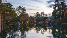 Timelapse at Kenrokuen garden in Kanazawa, Ishikawa Prefecture, Japan