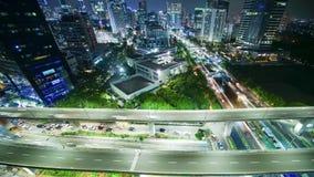 Timelapse Kuningan CBD τη νύχτα στην Τζακάρτα απόθεμα βίντεο