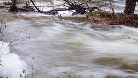 Timelapse of La Bresque, a little river in the south of France stock video footage