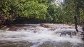 Timelapse of La Bresque, a little river in the south of France stock video