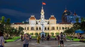 Timelapse la operación de la gente en la central de Ho Chi Minh City almacen de video