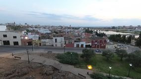 Timelapse la vieja parte de la ciudad, Badajoz, Extremadura, almacen de video