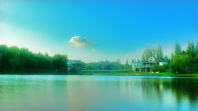 Timelapse lake at day stock footage