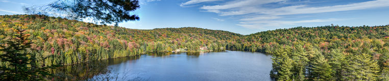 Panorama lake. Panorama on lake in Mauricie, Quebec Royalty Free Stock Images