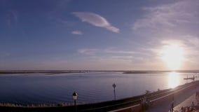 Timelapse landscape Faro Algarve - Portugal Stock Photo
