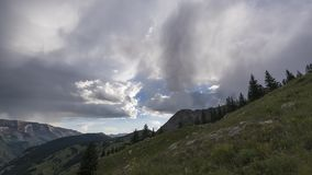 Timelapse Landscape in the Rocky Mountains, Maroon-Snowmass Wilderness stock footage