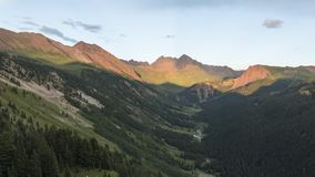Timelapse Landscape in the Rocky Mountains, Maroon-Snowmass Wilderness stock video footage