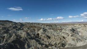 Timelapse - las formaciones de roca hermosas acercan al EL Calafate almacen de video