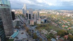 Timelapse of Levent district as seen from Ferko building, istanbul, Turkey stock video footage